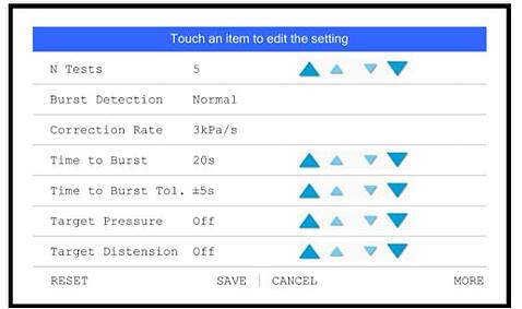 Burst Detection Setting